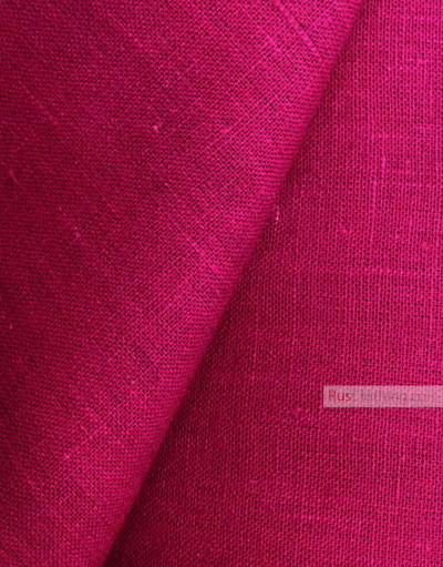 Linen fabric from Russia ''Saturated Fuchsia ''