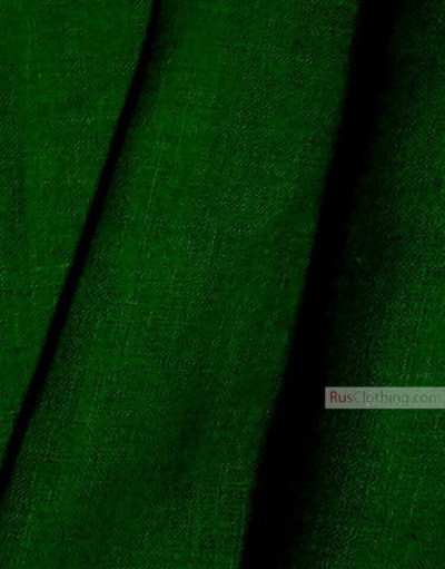 Linen fabric from Russia ''Deep Olive Green ''