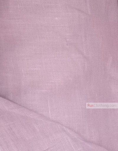 Linen fabric from Russia ''Pale Lilac (Thistle Of Crayola) ''