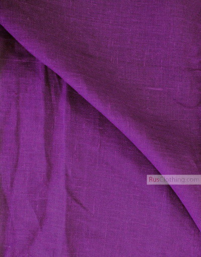 Linen fabric from Russia ''Dark Purple-Purple ''