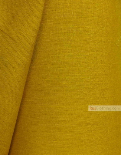 Linen fabric from Russia ''Honey-Mustard ''