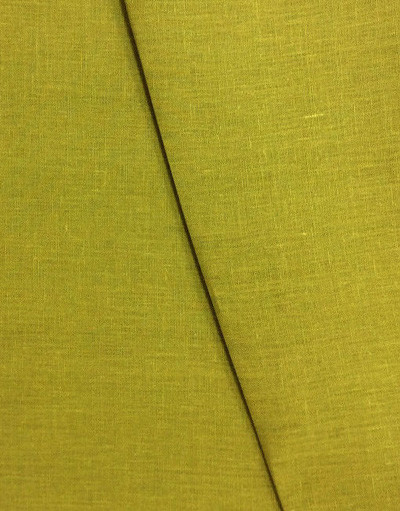 Linen fabric from Russia ''Yellow Curry ''