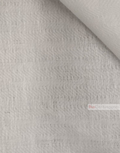 Linen fabric from Russia ''White Twill ''