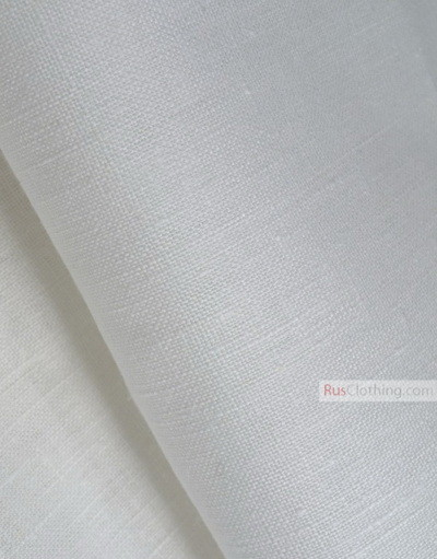Linen fabric from Russia ''bleached, Cream ''