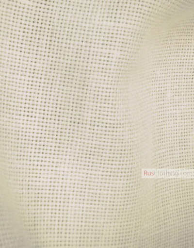Linen fabric from Russia ''discharged, cream ''