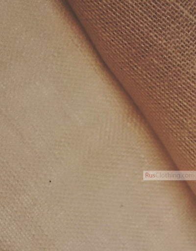 Linen fabric from Russia ''Biscuit ''
