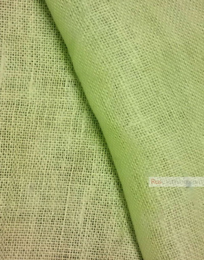Linen fabric from Russia ''Light green ''