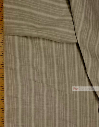 Linen fabric from Russia ''Gray-white strip ''