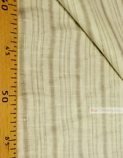 Linen fabric from Russia ''White-gray strips ''