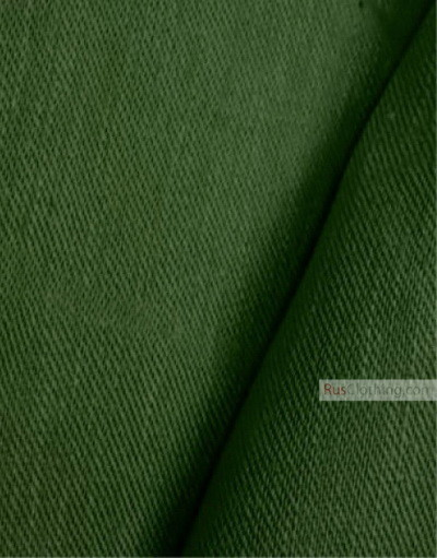 Linen fabric from Russia ''Green ''