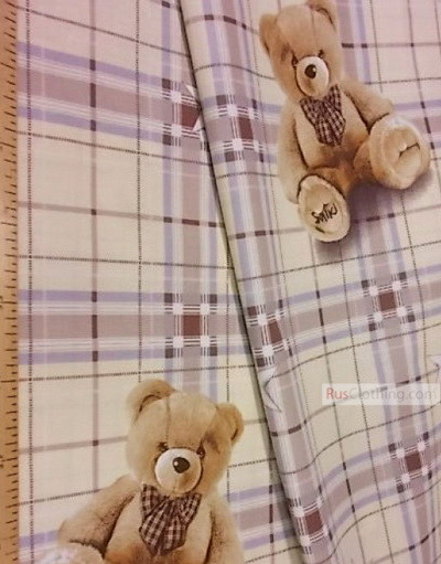 Nursery Fabric by the Yard Ткань-''Teddy Bear''}