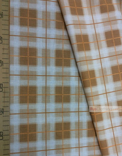 Geometric Print Fabric  ''Beige-Brown Cage''}