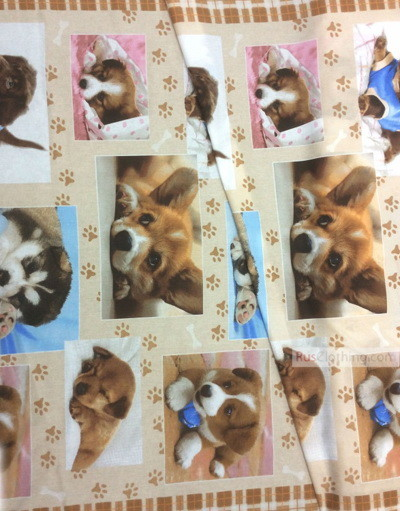 Baby fabric by the Yard ''Puppies''}