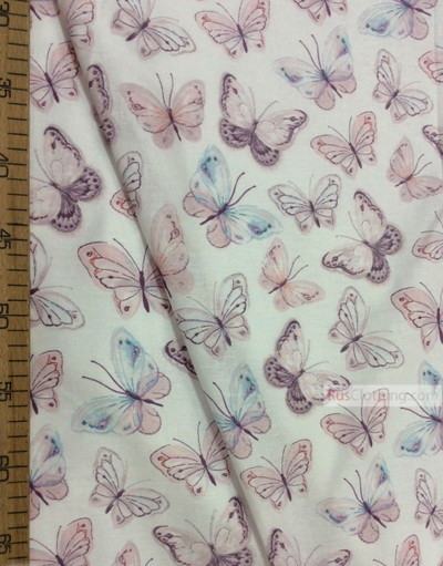 Nursery Print Fabric by the Yard ''Gentle Butterflies''}
