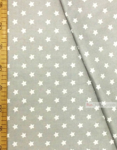 Baby Materials by the Yard ''White, Small Star On Gray''}