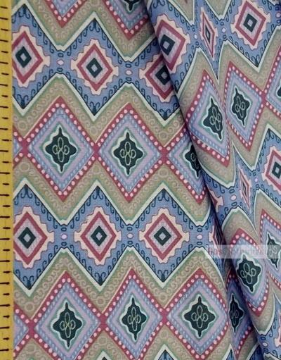 Geometric Print Fabric ''Rhombus''}