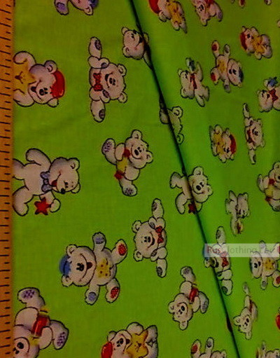 Nursery Fabric by the Yard ''White Bears On The Salad''}