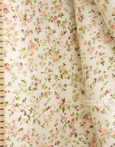 Floral cotton fabric by the yard ''Petals''}