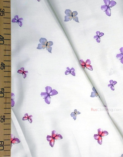 Baby Materials by the Yard ''Butterflies On Cream''}