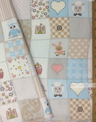 Kids Fabric by the Yard ''Children's Flap''}