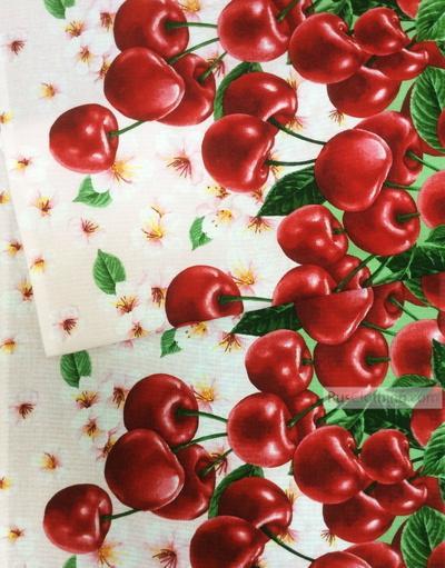Tissu nid d'abeille au metre ''Cherry''}