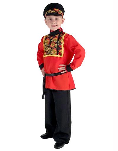 Robe russe ''Khokhloma'' pour garçons