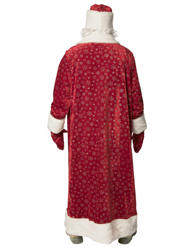 Russian costume Father Frost Red Velvet