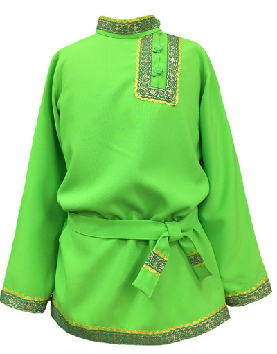 Boys cotton Russian shirt Basil for boys green