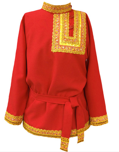 Chemise russe traditionnelle en coton Quadrille