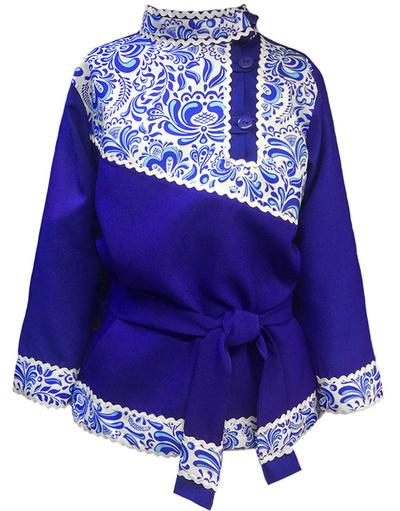 Traditional cotton Russian shirt ''Gzel''