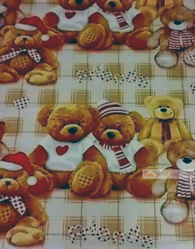 Tissu bébé au metre ''Teddy Bear''}