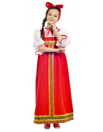 Russian Barynia costume for girls red