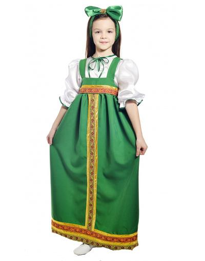 Russian Barynia costume for girls green