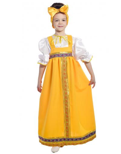 Russian Barynia costume for girls yellow