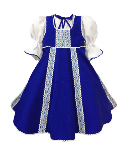 Russian dance costume ''Polinka'' blue