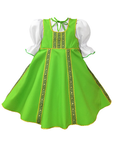 Russian dance costume ''Polinka'' bright green