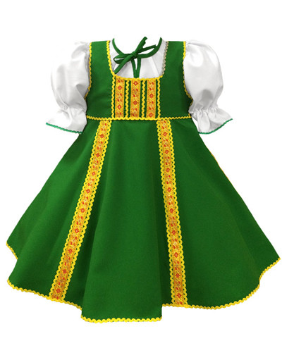 Russian dance costume ''Polinka'' green