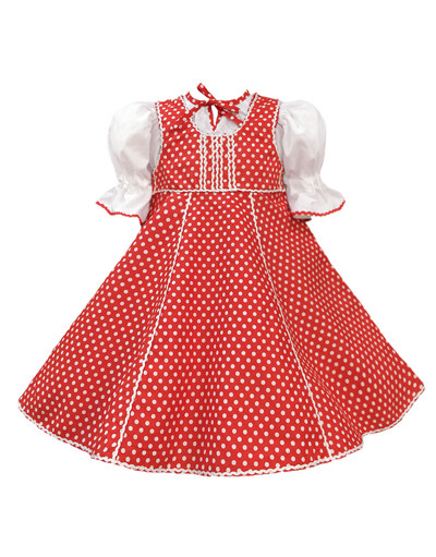 Russian ballet dance dress ''Polina'' polka dot