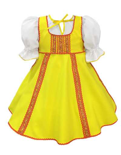 Russian dance costume ''Polinka'' yellow