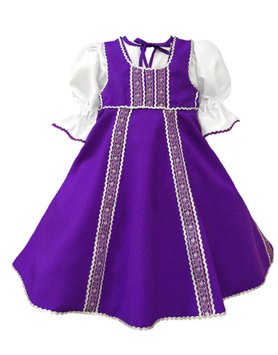 Russian dance costume ''Polinka'' purple