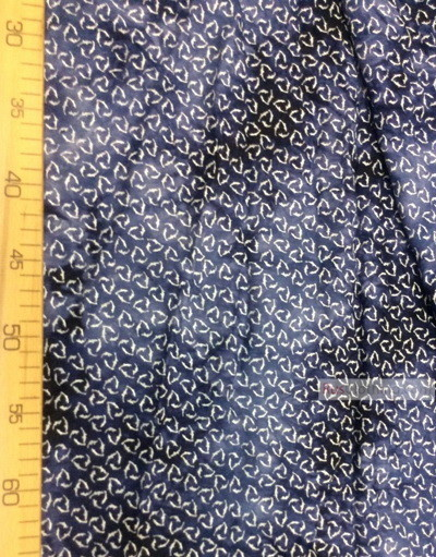 Viscose Fabric by the yard ''Triangle On A Boiled Dark Blue Background''}