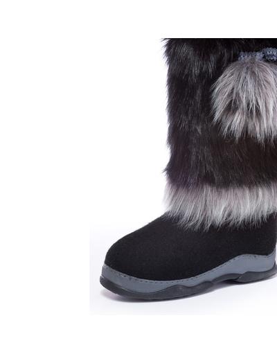 Russian Unty valenki felt boots ''Darkness''