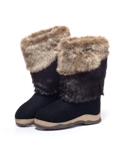 Russian Unty valenki felt boots ''Snowy Winter''
