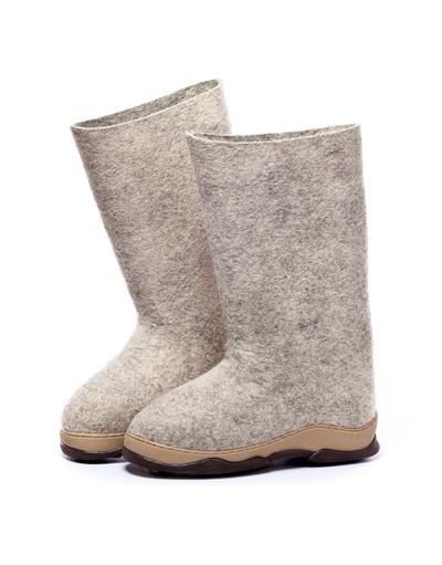 Russian valenki Gray felt boots