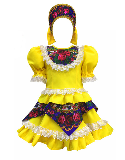 Russian dance costume ''Square dance'' with Kokoshnik