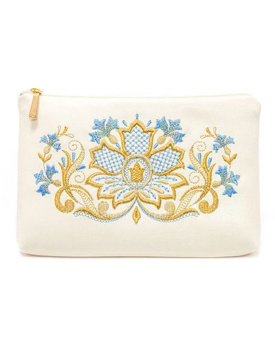 Embroidered Purse ''Cornflowers''}
