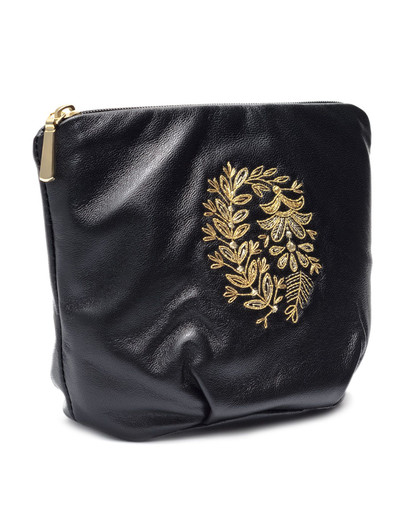 Embroidered MakeUp Bag ''Camellia''}