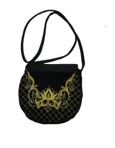 Small Black Evening Bag ''Sophie''}
