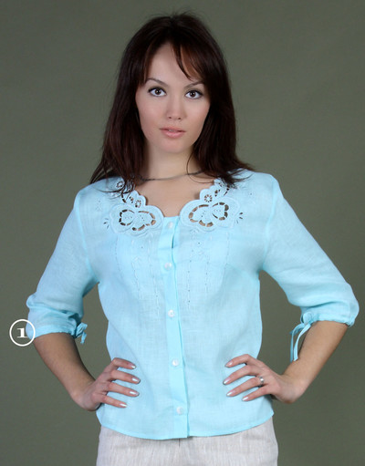 Linen blouse with embroidery ''Heritage''