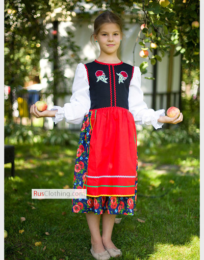Polish dress for girls